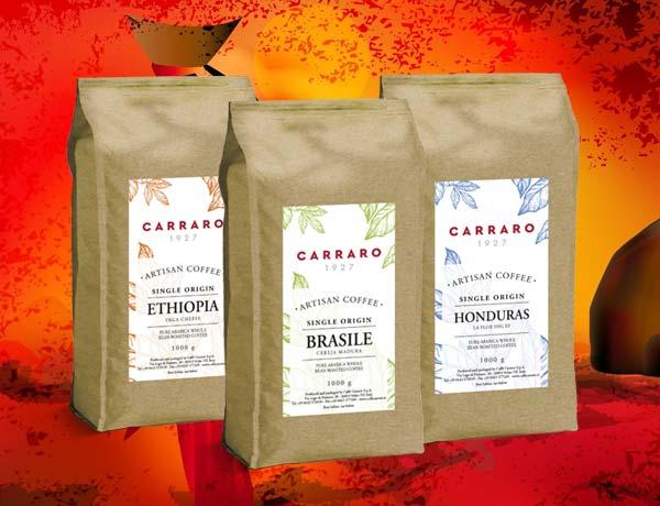 Carraro línia jednodruhových káv