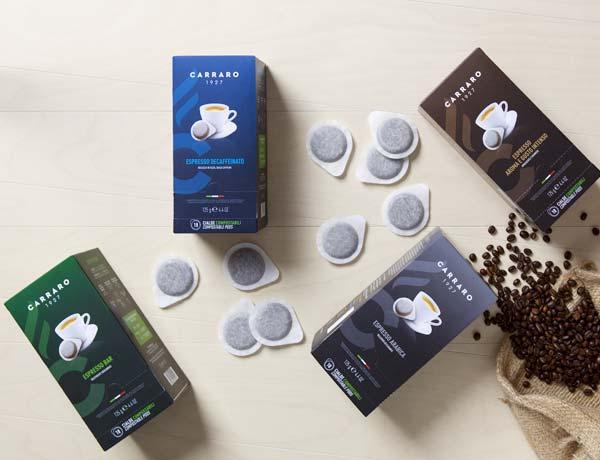 Carraro káva – kapsule a pody